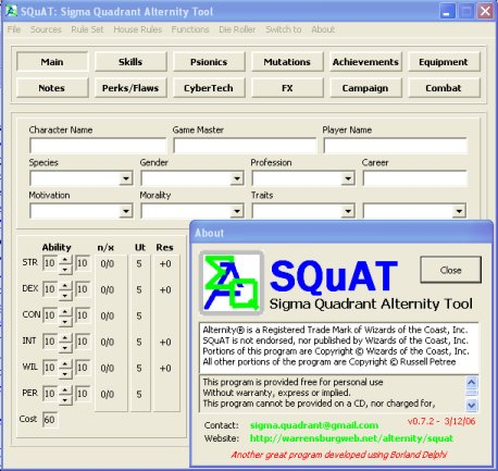 SQuAT Screen Shot